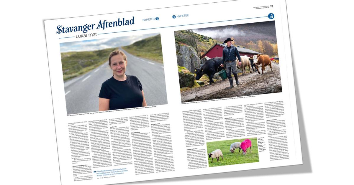 Mat med historier er trendy, sier Stavanger Aftenblad i dag, og har intervjuet oss i fortellfortell om hvorfor storytelling virker.